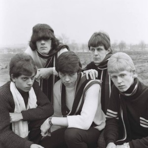 One of the first photographs of The Move from 1966; Carl is 2nd from the right. The location may be Hodge Hill Common (or is it Ward End Park?).