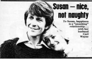 Carl and wife Susan Hanson in a TV Times article 1975