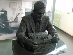 Alan Turing statue at Bletchley Park; image by Elliott Brown on Flickr reusable under a Creative Commons licence.