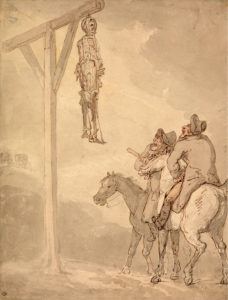 Water colour by London artist Thomas Rowlandson